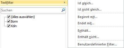 Textfilter